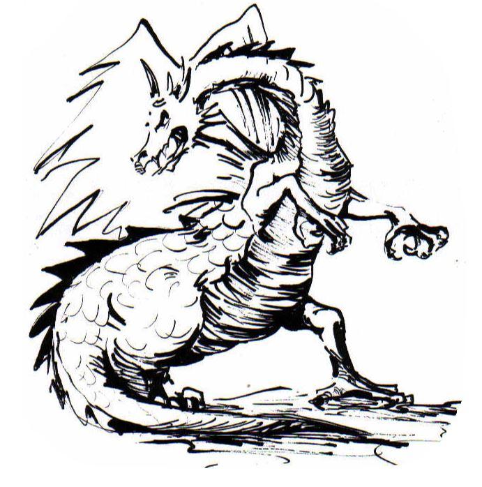 Drache Fafnir - das Logo der Christlichen Pfadfinder Vilsen